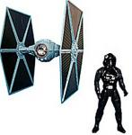 TIE FIGHTER WITH PILOT