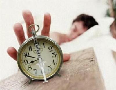注射付目覚まし時計