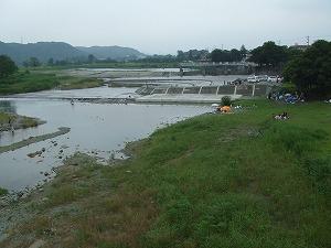 羽村堰全景