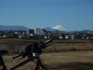 府中あたりからの富士山