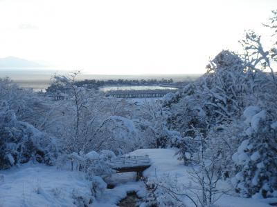 雪の近江舞子