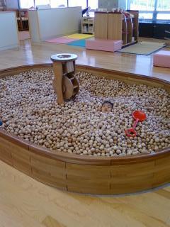 木のボールプール1