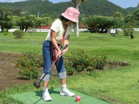 2008.09.23-パークゴルフ・娘