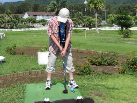 2008.09.23-パークゴルフ・息子