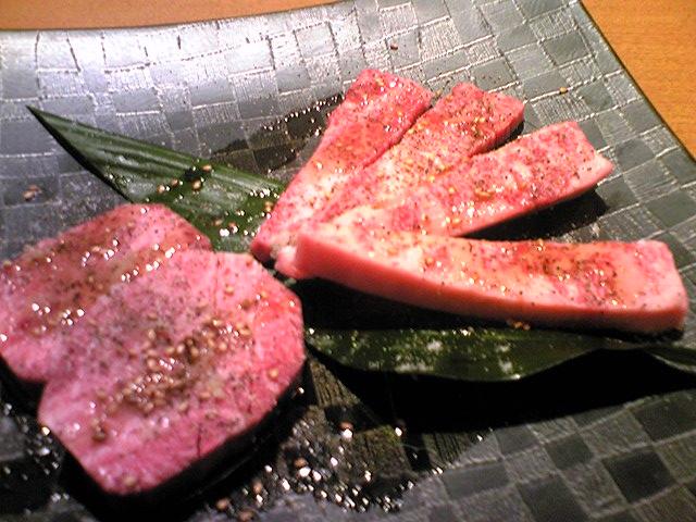 「御徳家」 厚切りタンステーキとカルビのみぞれ焼き 中津 12/24