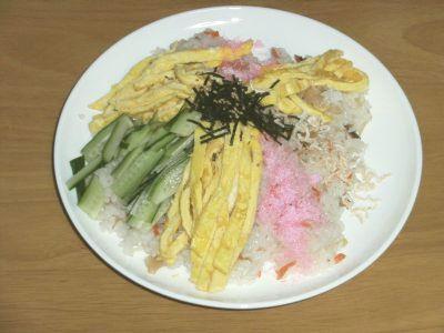 男のちらし寿司