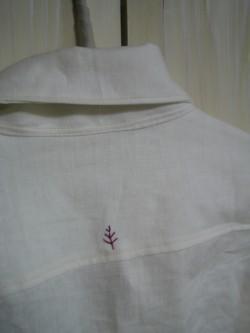 ホワイトリネンメンズシャツ2