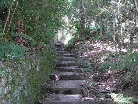 早速の階段