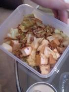 厚揚げとキャベツと挽肉のオイスターソース炒め
