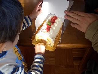 突然のケーキ