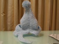 手編みの帽子 裏