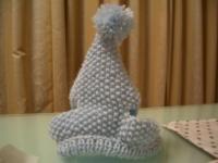 手編みの帽子 表