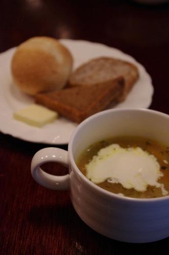 スープにパン