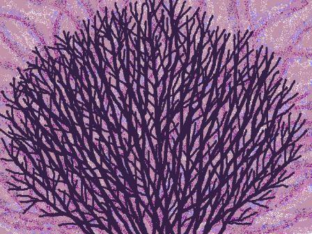 *紫の木立