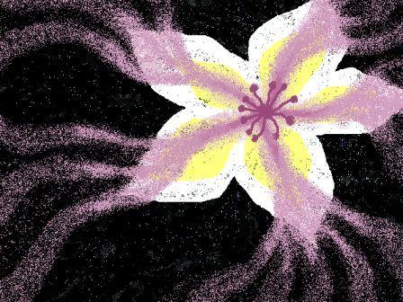 *闇に咲く花