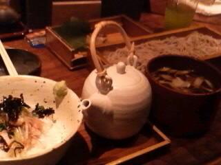 鯛茶漬けと鴨のおそば