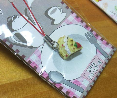 イチゴショートケーキストラップ