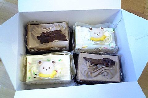 100円ケーキ×4コ