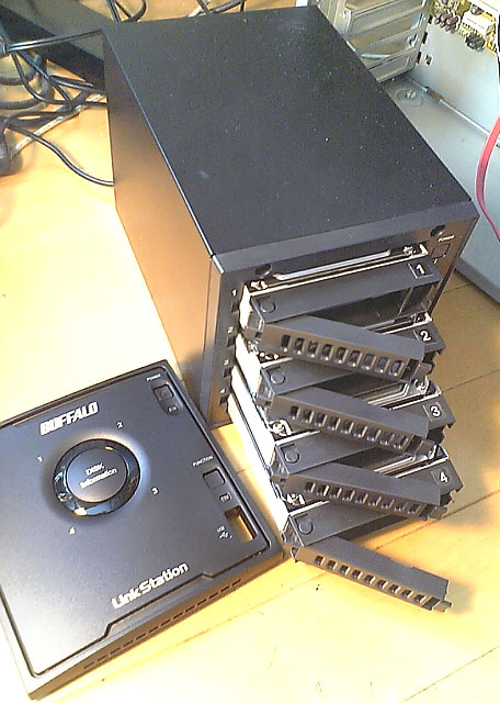 LinkStationHDDx4