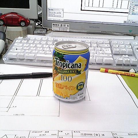 パインアップルジュース缶