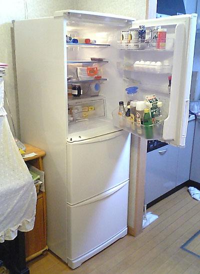 新しい冷蔵庫開