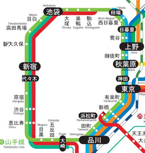 山手線路線図