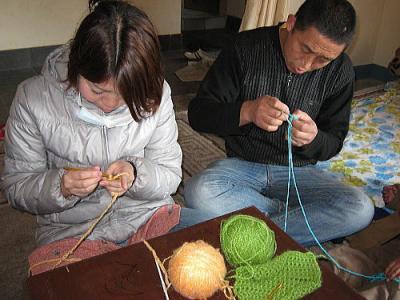 編み物2-3