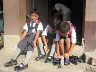 学校へ行く準備2