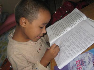 私はネパール語の宿題