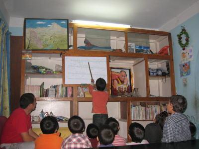 チベット語の授業2