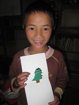 クリスマスカード作り2