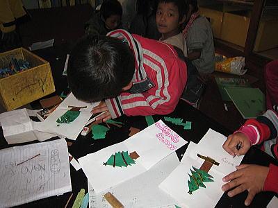 クリスマスカード作り3