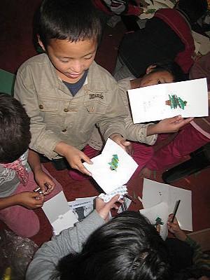クリスマスカード作り4