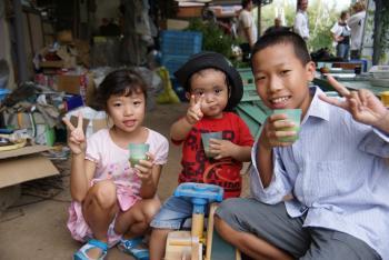 長良川ツアーの子供たち