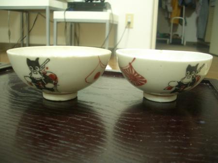 のらくろ茶碗
