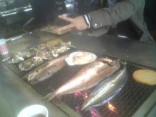 釧路 鮭番屋にて