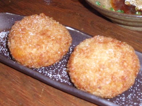 2008921岩塩で食べるサツマイモのコロッケ