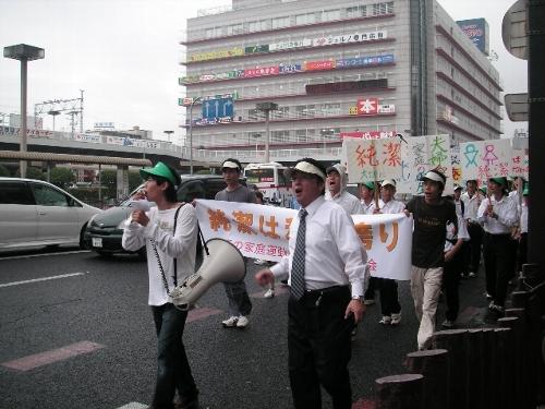 500デモ先頭 堺東駅前12