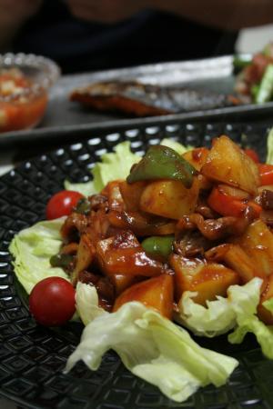 彩野菜のケチャップ炒め