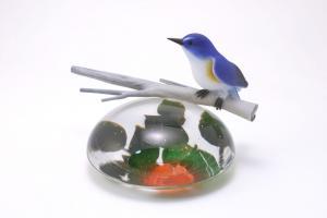 春告鳥 椿と瑠璃鶲