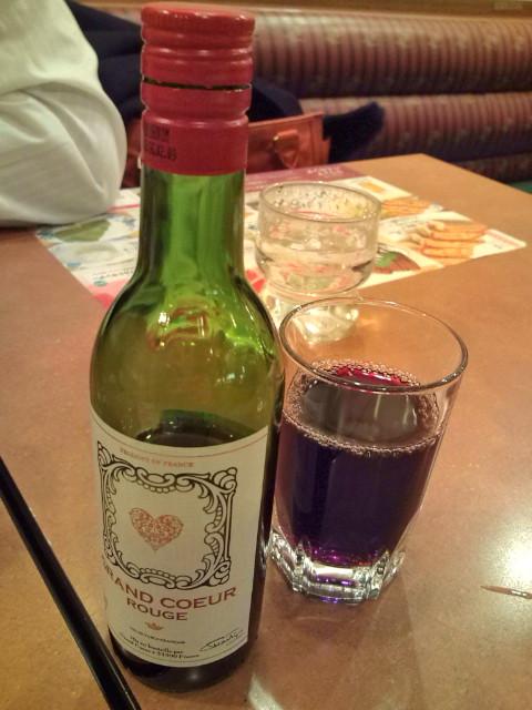 これがうわさの赤ワイン小ボトル