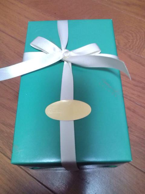 緑色の綺麗な包み紙