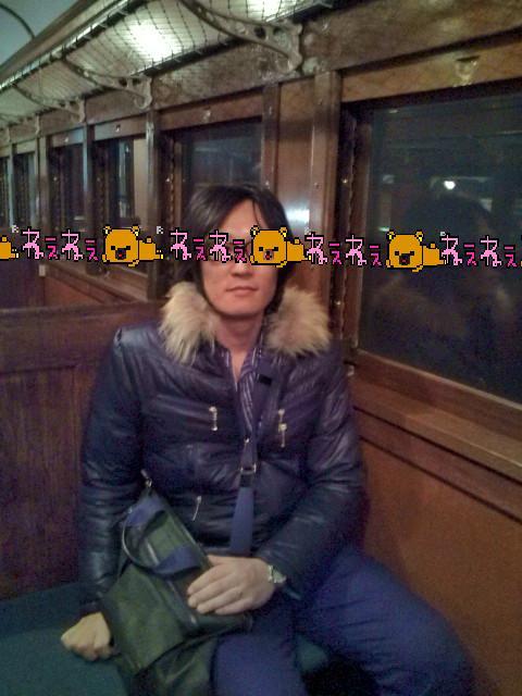 昔の電車の車中