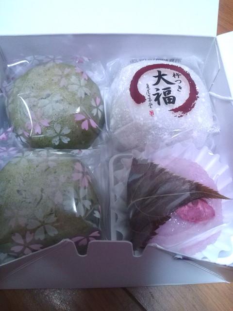 豆大福・よもぎ・桜餅