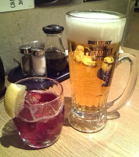 生ビールとキティー