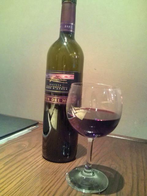 ワインボトルでいただきました