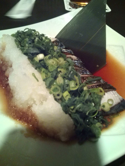 炙りしめ鯖のぶっかけねぎおろしポン酢