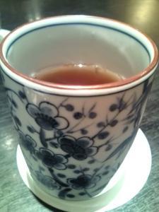 最後にお茶をいただきました