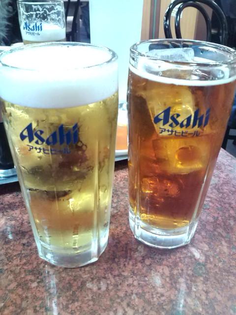 生ビールとウーロンハイ 王将