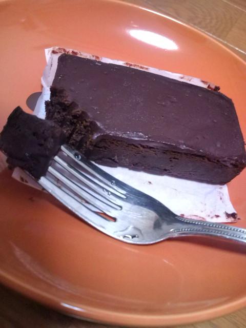 霧笛楼のチョコケーキ